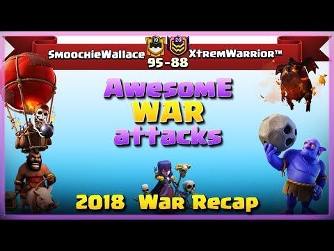 SmoochieWallace Vs XtremWarrior™ | TH11 War Recap #83 | Clash Of Clans | 2018 |