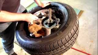Repairing An Automotive Tire Bead Leak With Sealer