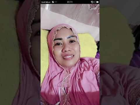 Jilbab memjelang tidur