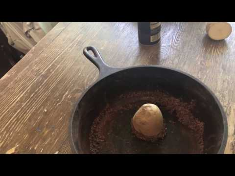 How to restore, and season a rusty cast iron skillet.