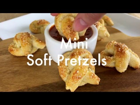 Mini Soft Pretzels Recipe Made With Refrigerated Breadsticks