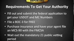 DOT Authority: How to Get Your MC Number and More - Progressive Reporting