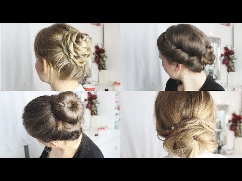 DUTTVARIATIONEN 4 Einfache & Schicke Frisuren YouTube
