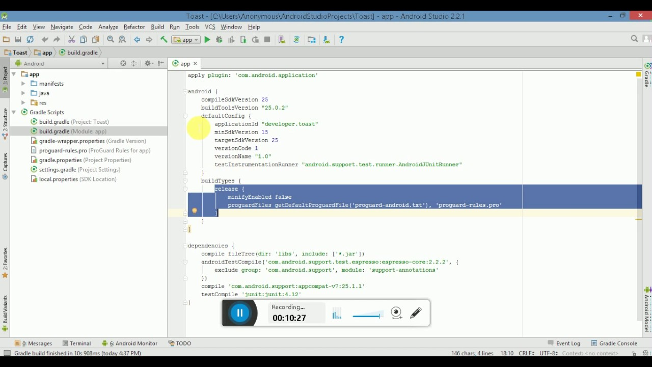 What Is Build Gradle File Or Gradle Build System Within Android Studio English Version Youtube