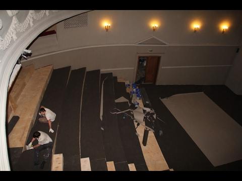 ТЮЗ показал реконструкцию зала в минутном видеоролике