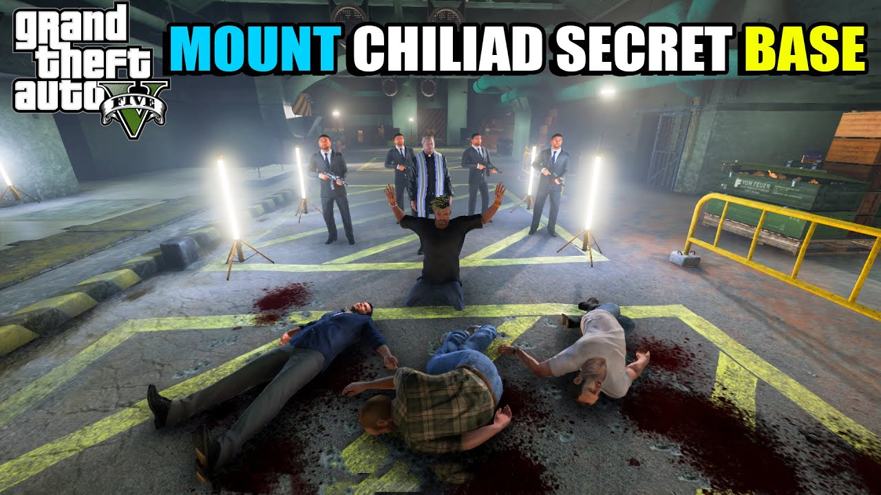MAFIA യുടെ SECRET BASE IN CHILIAD    MAFIA'S MOUNT CHILIAD SECRET BASE   GTA 5   AR7 YT