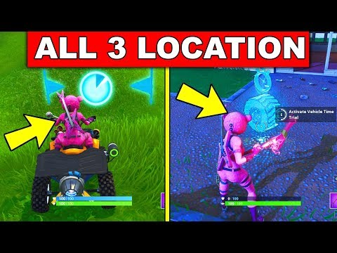 """""""Complete Vehicle Timed Trials"""" – ALL 3 LOCATIONS WEEK 10 CHALLENGES FORTNITE SEASON 6"""
