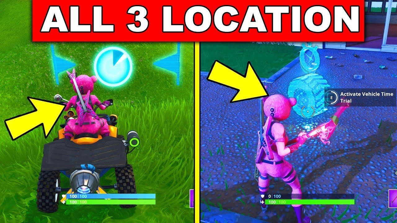 """Fortnite Season 6 How To Complete Every Season 6: """"Complete Vehicle Timed Trials"""""""