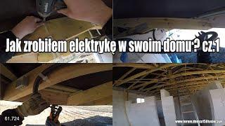 Jak zrobiłem elektrykę w swoim domu? cz.1  Halogeny, kamery #vlogbudowlany