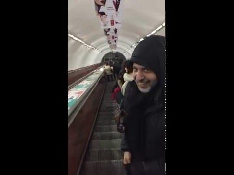 On the Yerevan Metro Elevator on New Years Eve