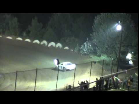 Crowley's Ridge Raceway 8/1/15 Street Stock Heat Race Chris Sims driving car #2