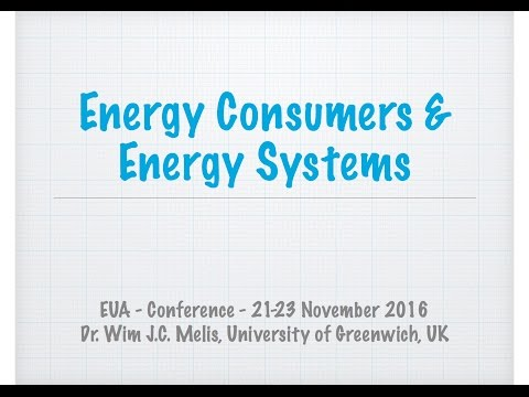 EUA - SET Plan Conference - Presentation on Energy Systems and Consumers