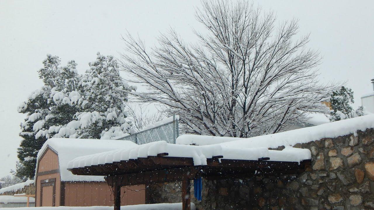 Winter Aesthetic Snow Day In El Paso Texas 12 27 15 Youtube