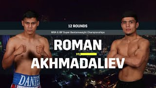 Daniel Roman vs Murodjon Ajhmadaliev: Fight for WBA and IBF Titles