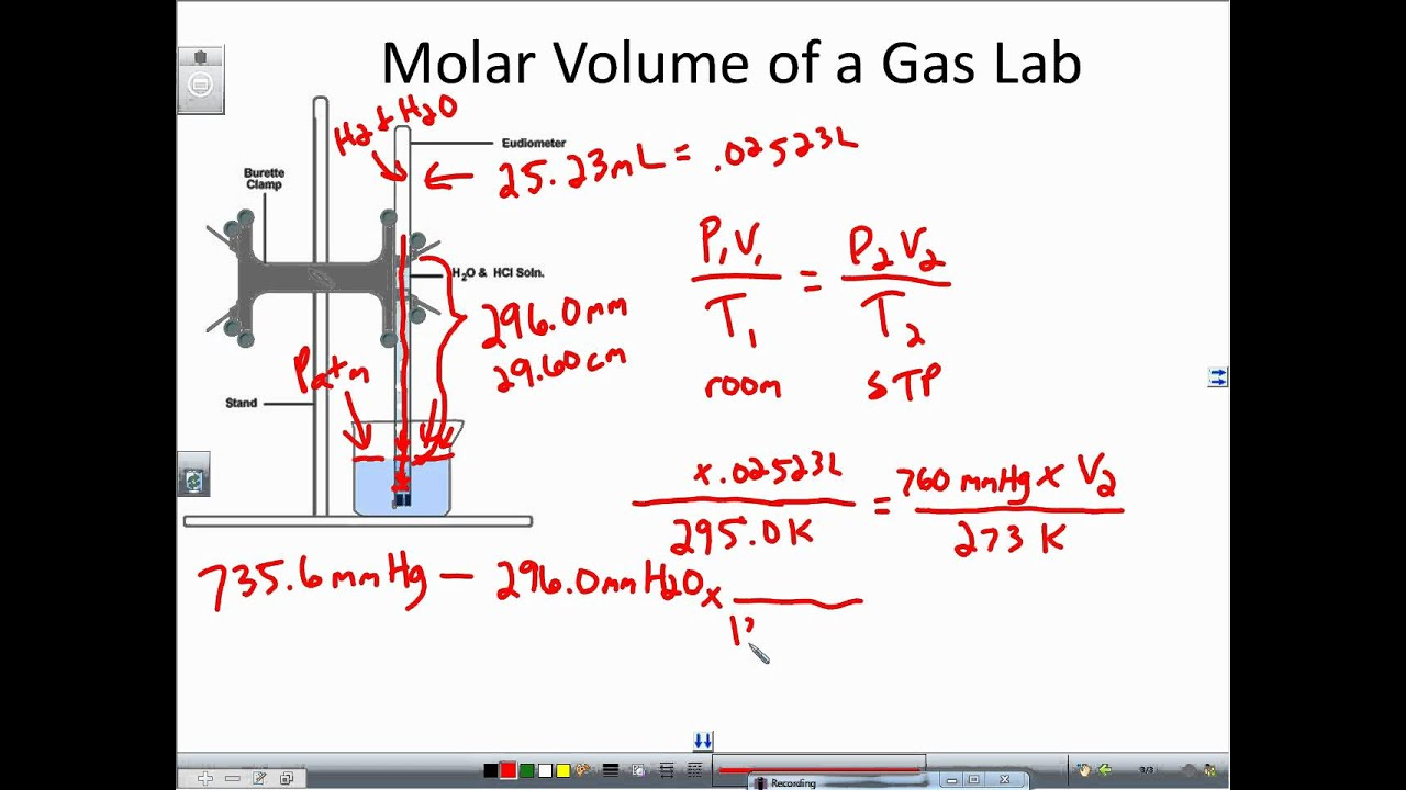 Molar Volume of a Gas Determined via a Reaction between Magnesium and Hydrochloric Acid