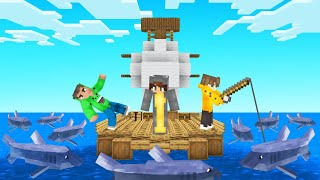 Building The ULTIMATE RAFT In MINECRAFT!
