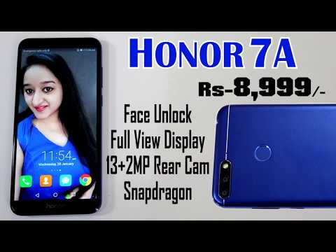 Honor 7A Unboxing & Overview In HINDI