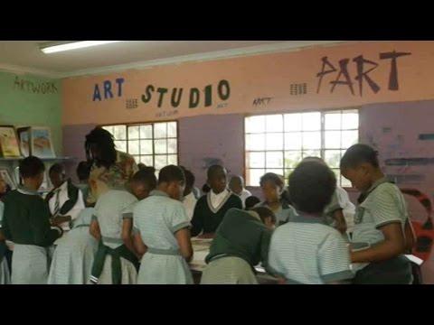 Art program benefits disadvantaged children in Soweto, South Africa