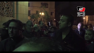 «ميدو ومحمد شوقي»في عزاء والد «كرارة»