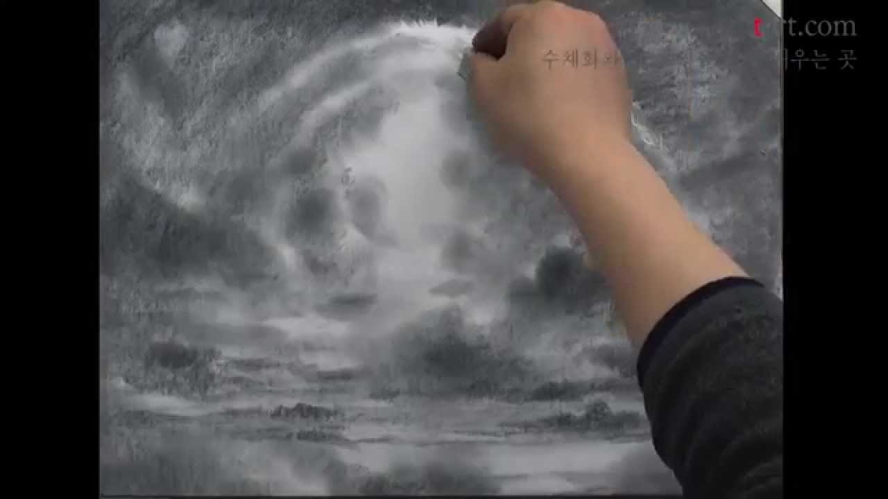 How to draw the cloud with pencil by um kyungho