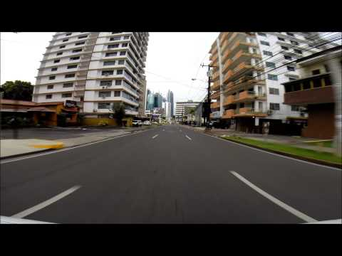 El Cangrejo and Via Espana, Panama City, Panama Area Tour (HD)