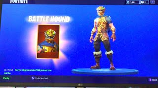 BUYING THE BATTLE HOUND!!!! Fortnite battle royale review