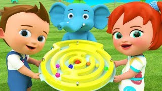 Color Balls Round Puzzle Toy Set | Little Baby Boy & Girl Fun Play Learn Colors for Children Kids