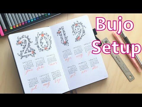 BUJO SETUP FOR 2019!! PLAN WITH ME