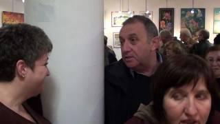 Contemporary modern painter Elin Bogomolnik, group art exhibition January 03, 2012, Afula, Israel