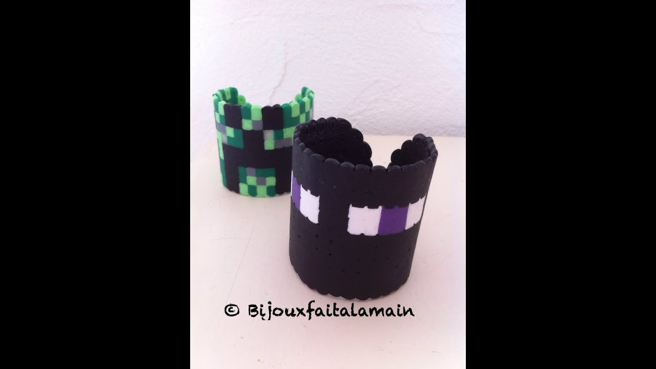 diy kids comment faire un bracelet minecraft avec des perles hama youtube. Black Bedroom Furniture Sets. Home Design Ideas