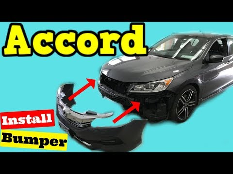 2016-2017 Honda Accord -- How to Install Front Bumper