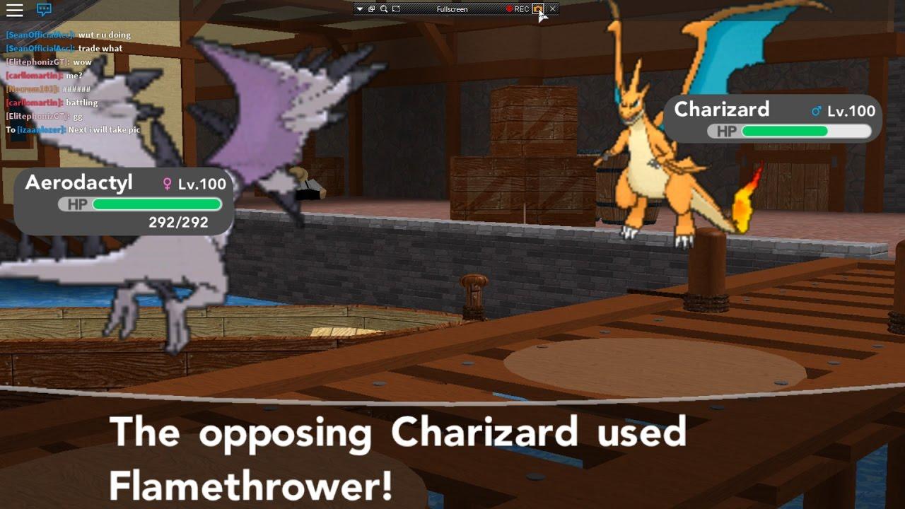 Roblox Pokemon Brick Bronze Using My 2nd Party Team And - Roblox Pokemon Brick Bronze Using My 2nd Party Team And Mega Charizard Y Vs Mega Aerodactyl