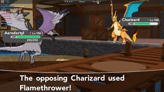 Roblox Pokemon Brick Bronze - France Utilisation de my 2nd Party Team et Mega Charizard Y VS Mega Aerodactyl