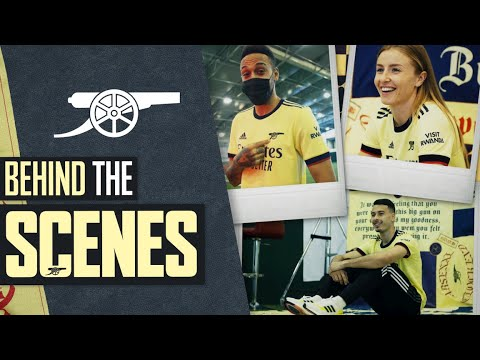 Behind the scenes at Arsenal's 2021/22 away kit shoot | Return of the Cannon
