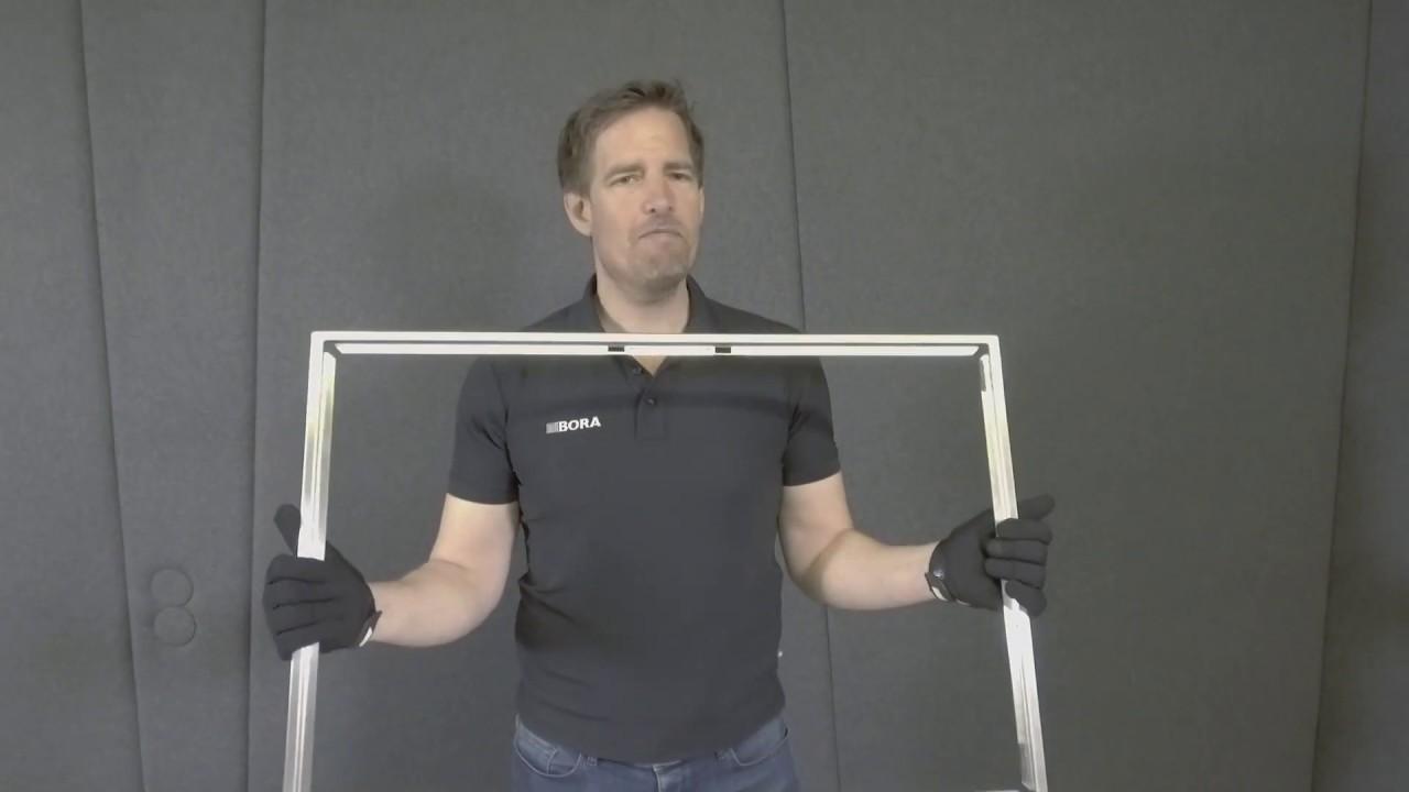 BORA Classic 2.0 Montage-Tutorial Teil 3: Vorbereitung des Möbels mit  Einbau des Einlegerahmens