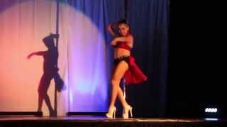 Mar Maheay Pole Dance Masters COTAC 2014 Cell Block Tango Pole Dance Competition