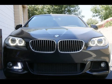 iJDMTOY BMW F10 5-Series LED Daytime Running Lights For M-Sport Bumper