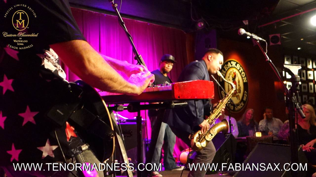 Fabian Hernandez playing a funky solo on sax!