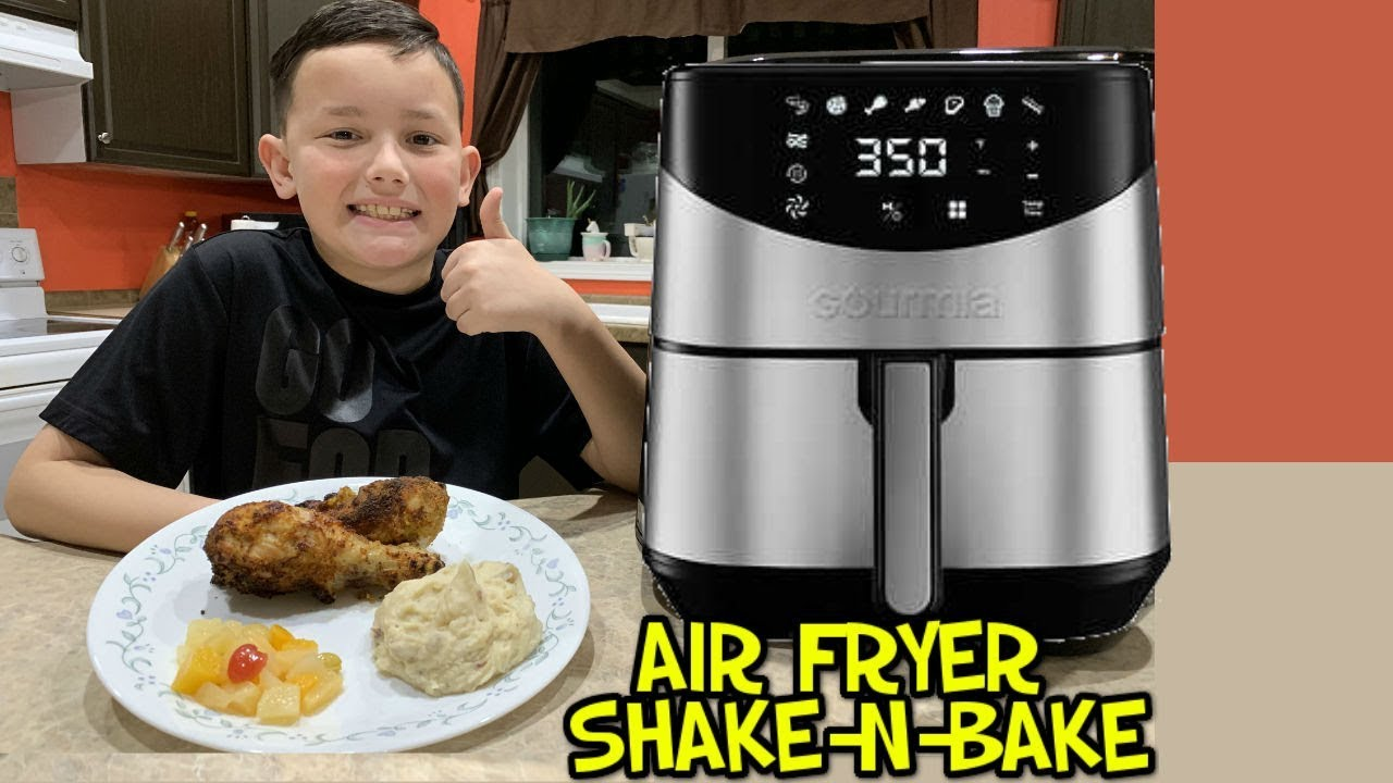 air fryer chicken legs shake and bake
