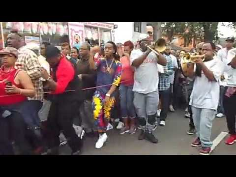 Treme Sidewalk Steppers Second Line 2015 New Orleans