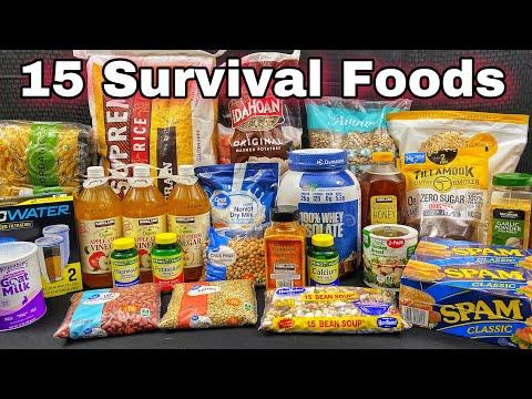 15 Survival Foods Every Prepper Should Stockpile / 90 Days of Preps