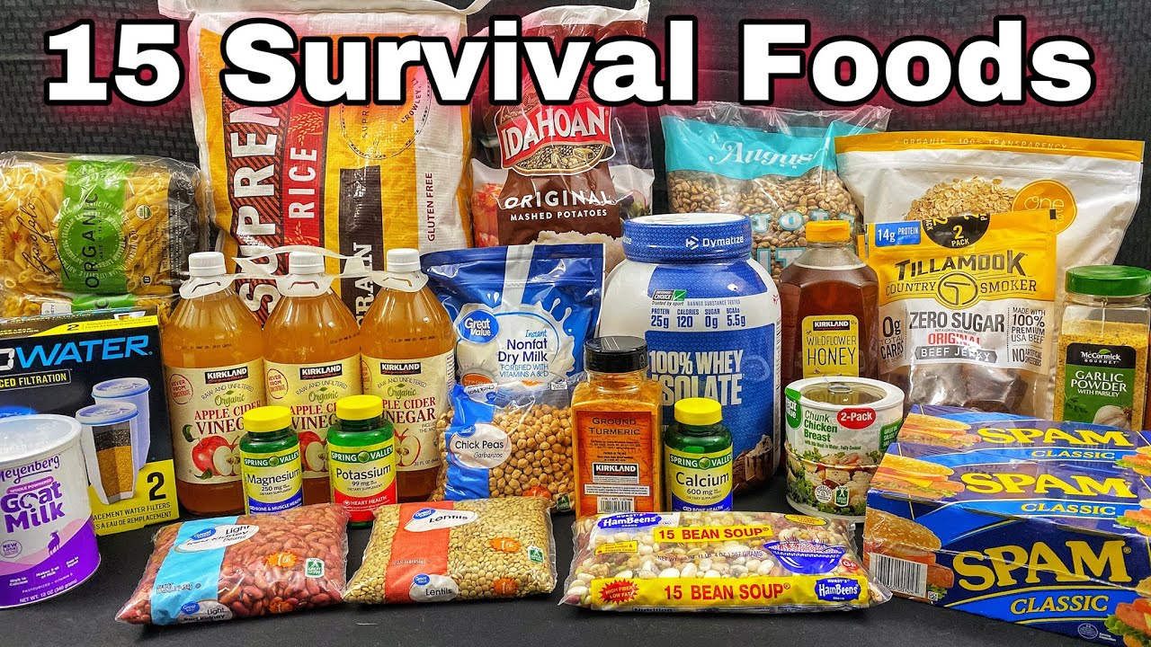 15 Survival Foods Every Prepper Should Stockpile / 90 Days of Preps -  YouTube