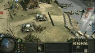 Company Of Heroes - Opposing Fronts Gameplay, Vire River Valley (FAIL!)