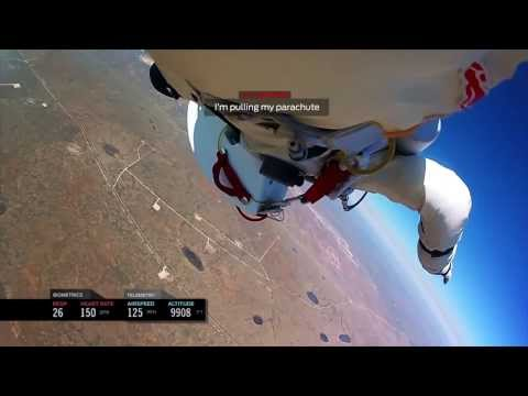INSPIRATIONAL – Felix Baumgartner – Headcam footage space Jump!! FULL