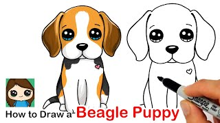 How to Draw a Beagle Puppy Dog Easy
