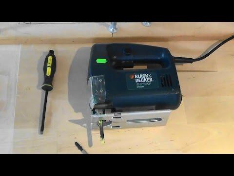 Как поменять полотно на электролобзике