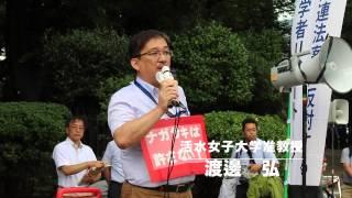 安保法案に反対する憲法学者リレートークでの演説.