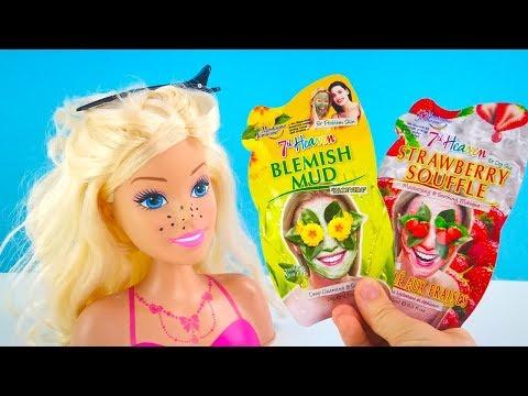 ЧЁРНЫЕ ТОЧКИ У БАРБИ #Куклы Игрушки Для девочек Играем в Салон Красоты