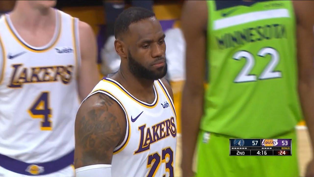 Los Angeles Lakers vs Minnesota Timberwolves 1st Half ...