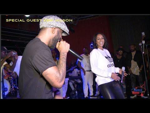 Keri Hilson invitée spéciale de Fally Ipupa au podium du concert d' Atlanta- USA